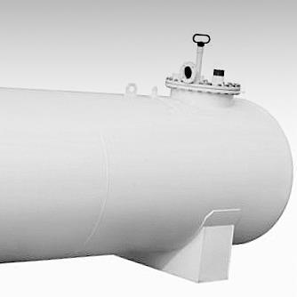 Zylinderförmiger Tank